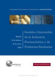 Gestión e Innovación de la Industria Farmacéutica y de ... - Aeseg