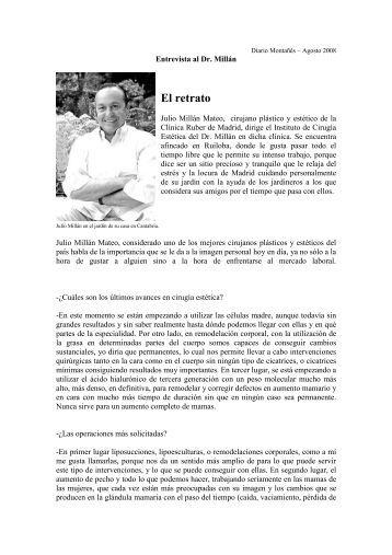diario montañés agosto 2008 entrevista al dr. millán