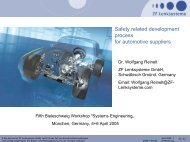 Safety-related development process according to ... - the RVS Group
