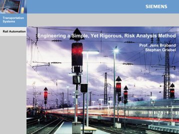 Reliability Prediction in Railway Signalling Engineering a Simple ...