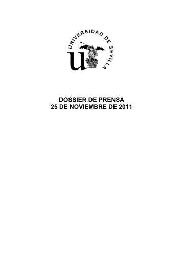Dossier de Prensa 25-noviembre - Universidad de Sevilla