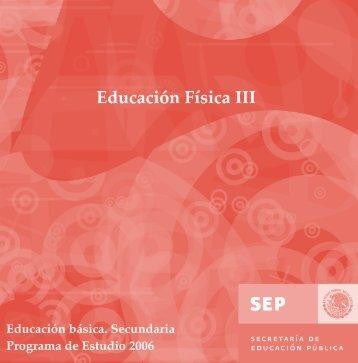Programa Educación Física III - Sepdf.gob.mx
