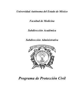 Programa de Protección Civil - Universidad Autónoma del Estado ...