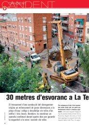 30 metres d'esvoranc a La Teixonera (PDF) - Ajuntament de ...