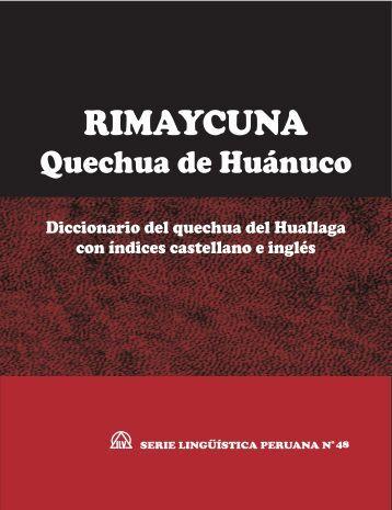 Diccionario del quechua del Huallaga