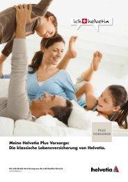 Meine Helvetia Plus Vorsorge: Die klassische Lebensversicherung ...