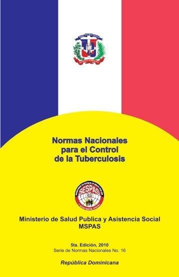 Normas Nacionales para el Control de la Tuberculosis