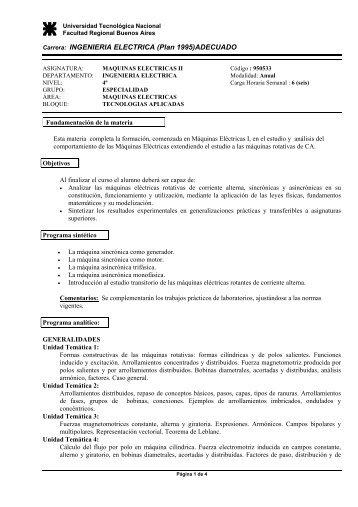 Máquinas Eléctricas II - Facultad Regional Buenos Aires ...