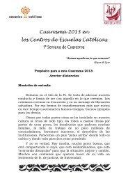 1ª Semana de Cuaresma - Escuelas Católicas