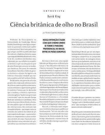Ciência britânica de olho no Brasil