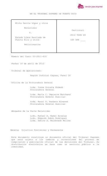 2012 TSPR 69 - Rama Judicial de Puerto Rico
