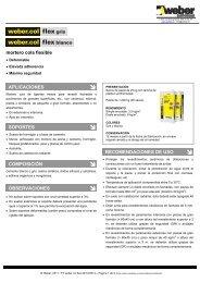 mortero cola flexible APLICACIONES SOPORTES ... - Weber