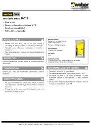 mortero seco M-7,5 - Weber