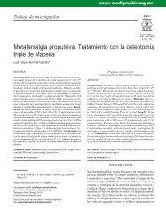 Metatarsalgia propulsiva. Tratamiento con la ... - edigraphic.com