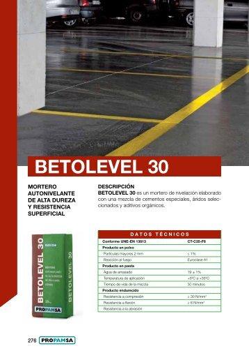 BETOLEVEL 30 - Propamsa