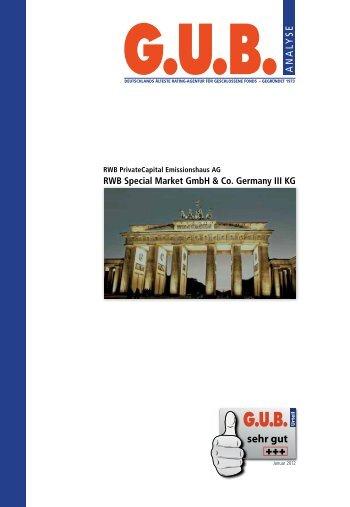 G.U.B. Analyse der RWB AG Germany III