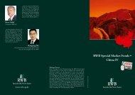 RWB Special Market Fonds • China IV - RWB AG