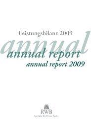annual report 2009 - RWB AG