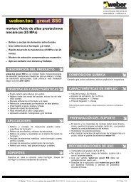 mortero fluido de altas prestaciones mecánicas (85 MPa) - Weber