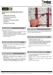 Imprimación antióxido para hierro y acero APLICACIONES ... - Weber