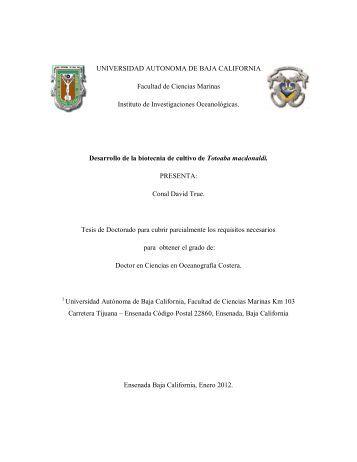 Desarrollo de la biotecnia de cultivo de Totoaba.pdf - Facultad de ...