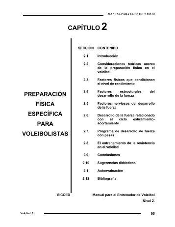 capítulo 2 preparación física específica para voleibolistas - Ened