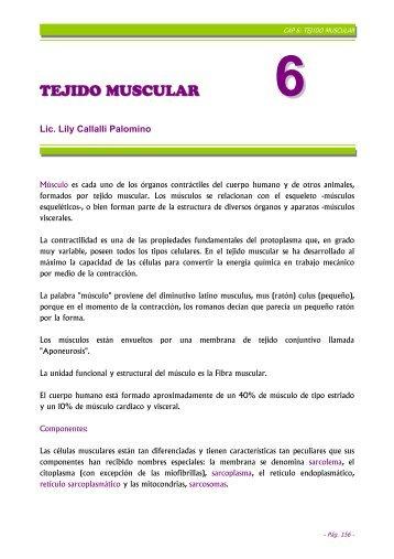 capítulo 6: tejido muscular