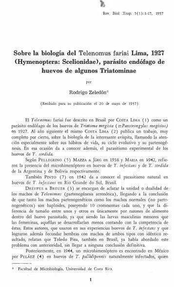 Hymenoptera: Scelionidae - Revista de Biología Tropical ...