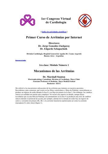 PCVC - Curso de Arritmias - M Stanton: Mecanismos de las arritmias 1