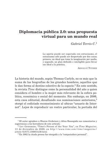 Diplomacia pública 2.0: una propuesta virtual para un mundo real