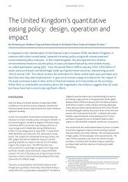 The United Kingdom's quantitative easing policy: design, operation and impact