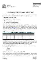 PROTOCOLO DE MUESTREO DE LOS CRUSTÁCEOS