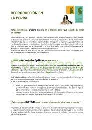 REPRODUCCIÓN EN LA PERRA - Centro Veterinario La Granja