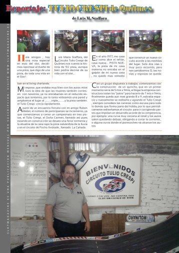 Reportaje: TULIO CRESPI de Quilmes - Slotmagazine