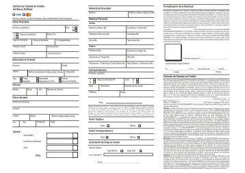 solicitud de tarjetas de crédito Nueva .cdr - Banco Sofitasa