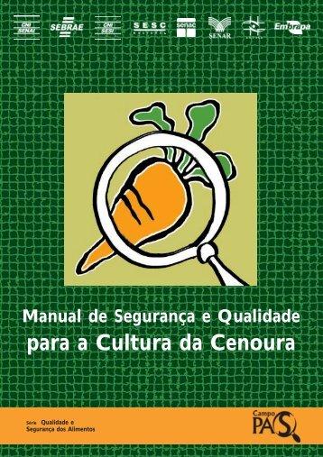 Manual Segurança Qualidade Para a Cultura da Cenoura