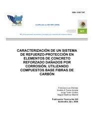 Caracterización de un sistema de refuerzo-protección en - Instituto ...