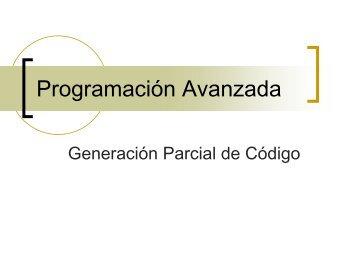 08 - Generacion Parcial de Código