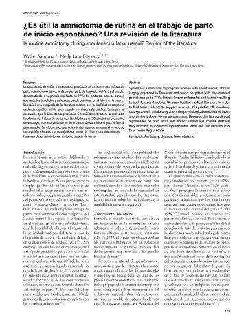 ¿Es útil la amniotomía de rutina en el trabajo de parto de ... - SciELO