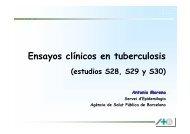 Ensayos clínicos en tuberculosis - Agència de Salut Pública de ...