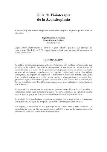 Guía de Fisioterapia de la Acondroplasia - Pegral