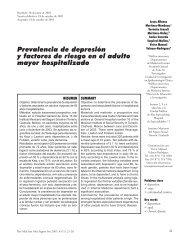 Prevalencia de depresión y factores de riesgo en el adulto ... - imss