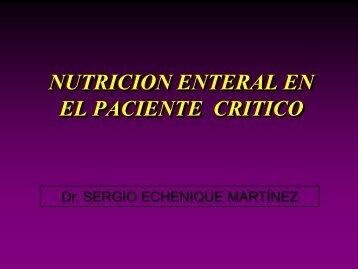 nutricion enteral en el paciente critico