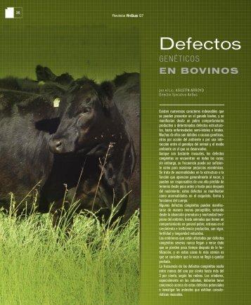 Defectos genéticos en bovinos - Asociación Argentina de Angus