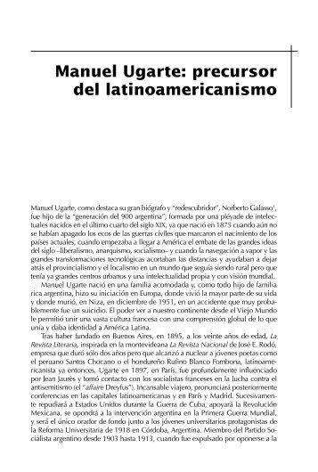 Manuel Ugarte: precursor del latinoamericanismo - CLACSO