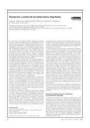 Sobre la prevención y el control de las tuberculosis importadas. Med ...