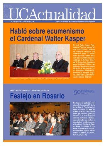 Habló sobre ecumenismo el Cardenal Walter Kasper - Universidad ...