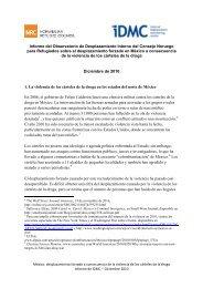 Informe del Observatorio de Desplazamiento Interno del Consejo ...