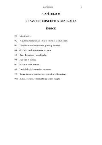 CAPÍTULO 0 REPASO DE CONCEPTOS GENERALES ÍNDICE