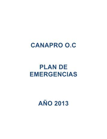 1 plan de emergencias canapro 2013